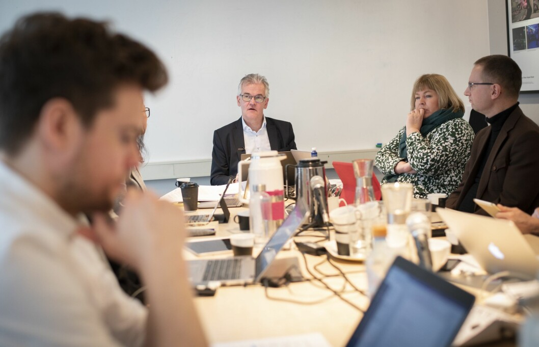 Pressens Faglige Utvalg 27. februar 2019. I front: PFU-leder Alf Bjarne Johnsen.