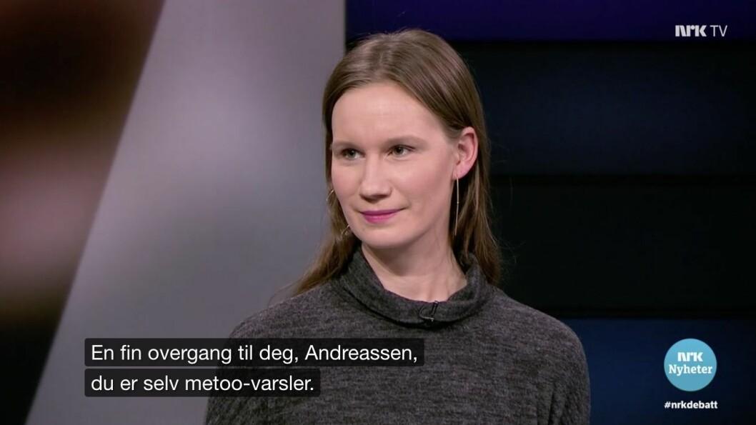 Sunniva Andreassen varslet om Giske sin oppførsel og stilte i gårsdagens debatt - «Maktkamp eller #metoo?».
