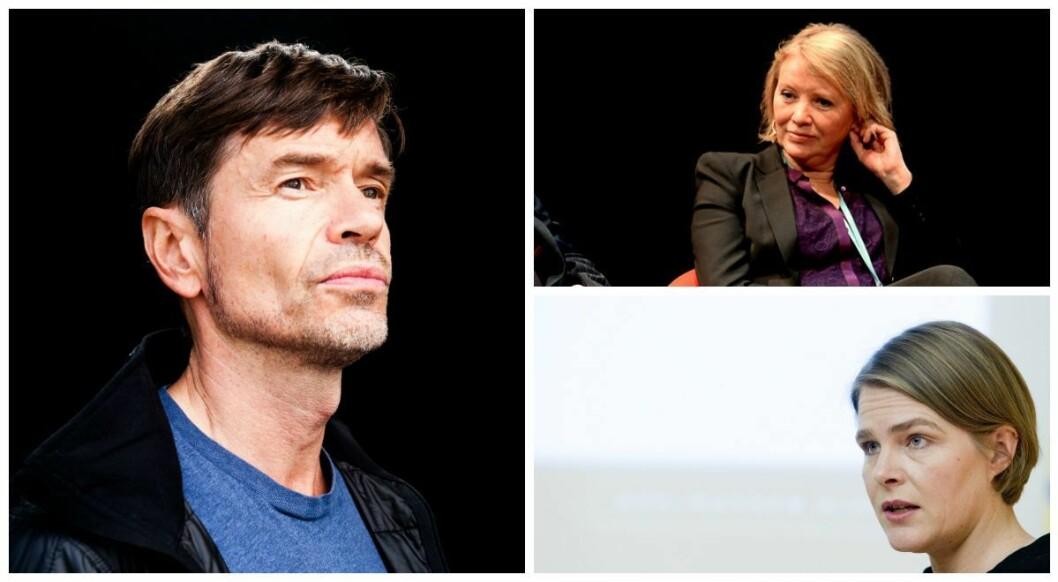 Sosiolog og samfunnsdebattant Kjetil Rolness og kommentatorene Marie Simonsen i Dagbladet og Hege Ulstein i Dagsavisen.