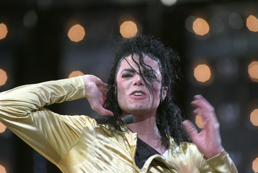 Michael Jackson i aksjon  under konsert på Valle Hovin tilbake i 1992, da han gjestet Norge. NTB: Terje Bendiksby / SCANPIX
