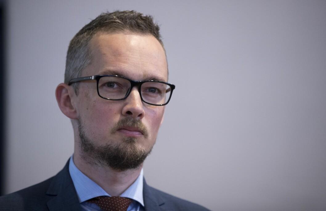 Advokat Hans Marius Graasvold, her  på pressekonferanse i forbindelse med Joshua French-saken.Foto: Terje Pedersen / NTB scanpix