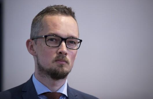 Advokat Hans Marius Graasvold på pressekonferanse i forbindelse med Joshua French-saken.