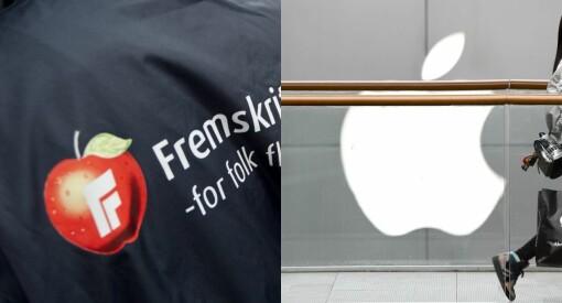Apple og Frp i strid om rett til eplelogo