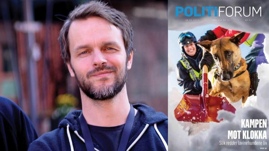 – Uten at vi har tallene, vet vi at det er for få kvinnelige kilder i bladet, i forhold til kjønnsfordelingen i politiet, skriver Erik Inderhaug i Politiforum.
