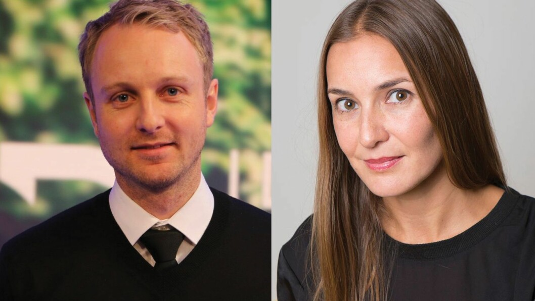 Espen Skoland i Discovery og Line Vee Hanum i NENT.
