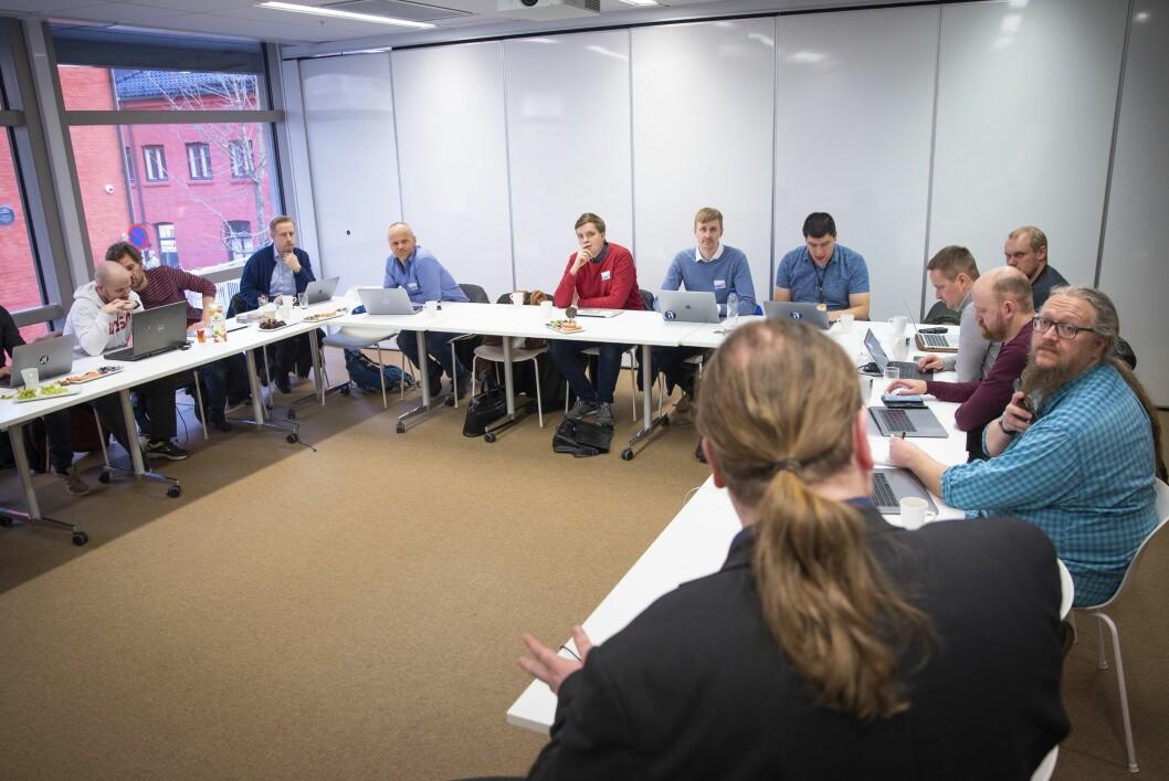 Redaksjonelle utviklere, rene utviklere og datajournalister var samlet i VG-huset mandag for å se på muligheten for å videreutvikle Innsyn.no.