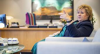 Erna Solberg kritiserer NRK etter falske nyheter-prosjekt