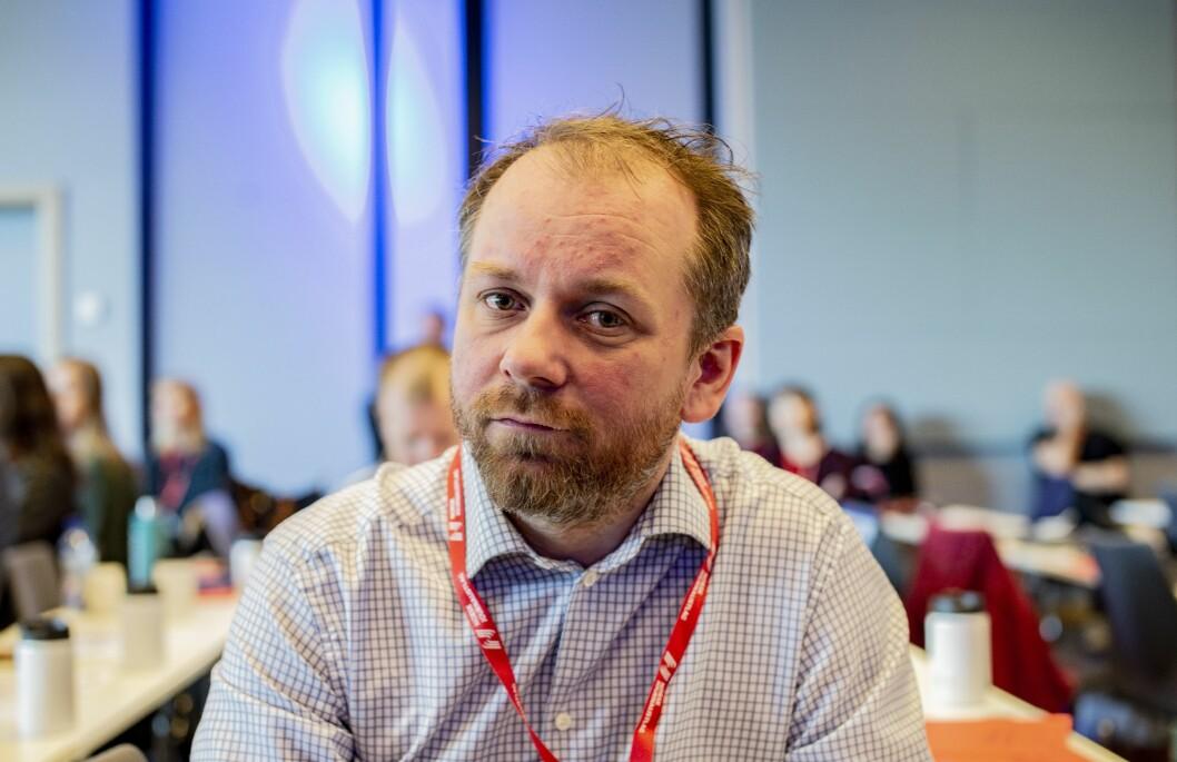 Tor-Erling Thømt Ruud, klubbleder i VG på landsmøtet til Norsk Journalistlag i 2019.