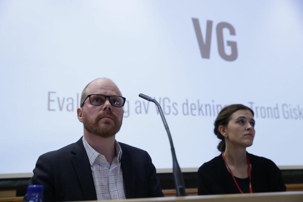 VGs egen evaluering av avisas dekning av den såkalte Giske-videosaken er ferdig. Mediehuset legger fram evalueringen onsdag kveld.Foto: Berit Roald / NTB scanpix