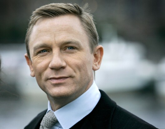 Daniel Craig, den nye James Bond, var på besøk i Stockholm.