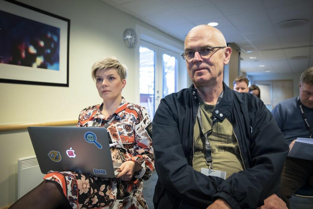 Styreleiar Silje S. Skiphamn og sekretariatsleiar John Bones i Skup. Her under årsmøtet 29. mars 2019.