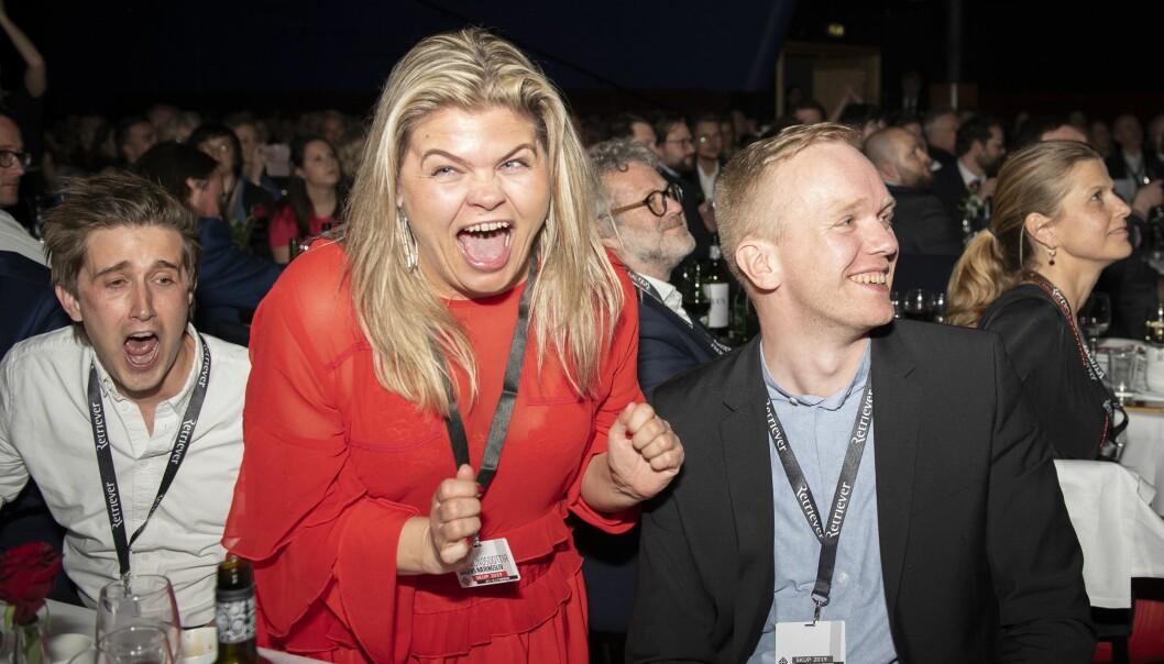 Scener fra da Dagens Næringslivs journalister vant SKUP-prisen i 2019.