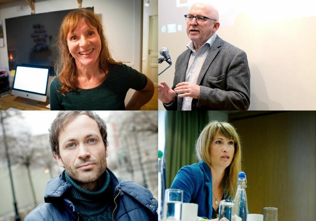 Anki Gerhardsen, Sven Egil Omdal, Simen Sætre og Eva Sannum.