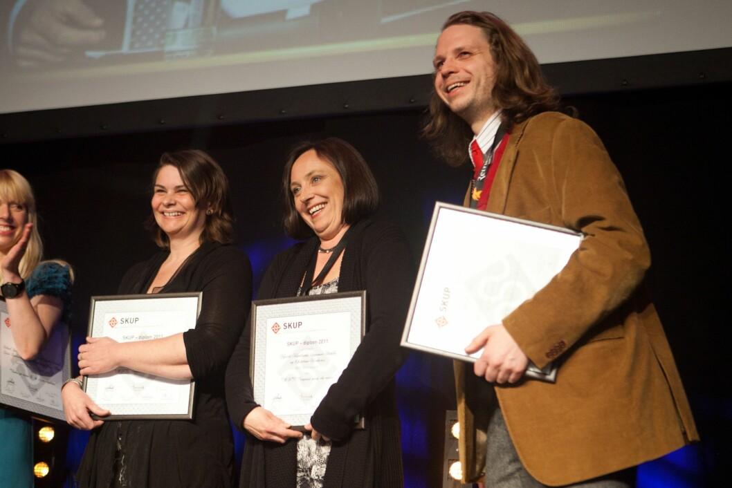 NRK Brennpunkt med Kjersti Knudssøn, Synnøve Bakke og Christian Kråkenes vant diplom for NAV: Diagnose mens du venter - på SKUP-konferansen 2012.