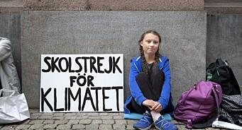 Natur og Ungdom og klimaaktivist Greta Thunberg (16) får Fritt Ords pris