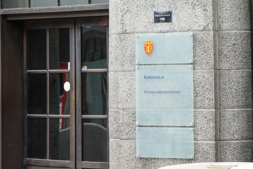 Kunnskapsdepartementet i Oslo.