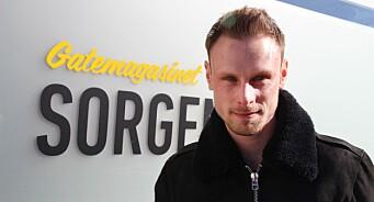 Thomas Tangen (29) er ansatt som journalist i Gatemagasinet Sorgenfri