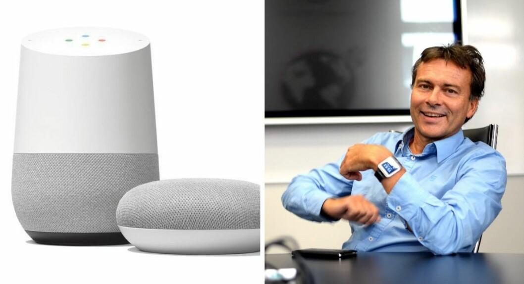 Google Home og Knut Arne Futsæter.