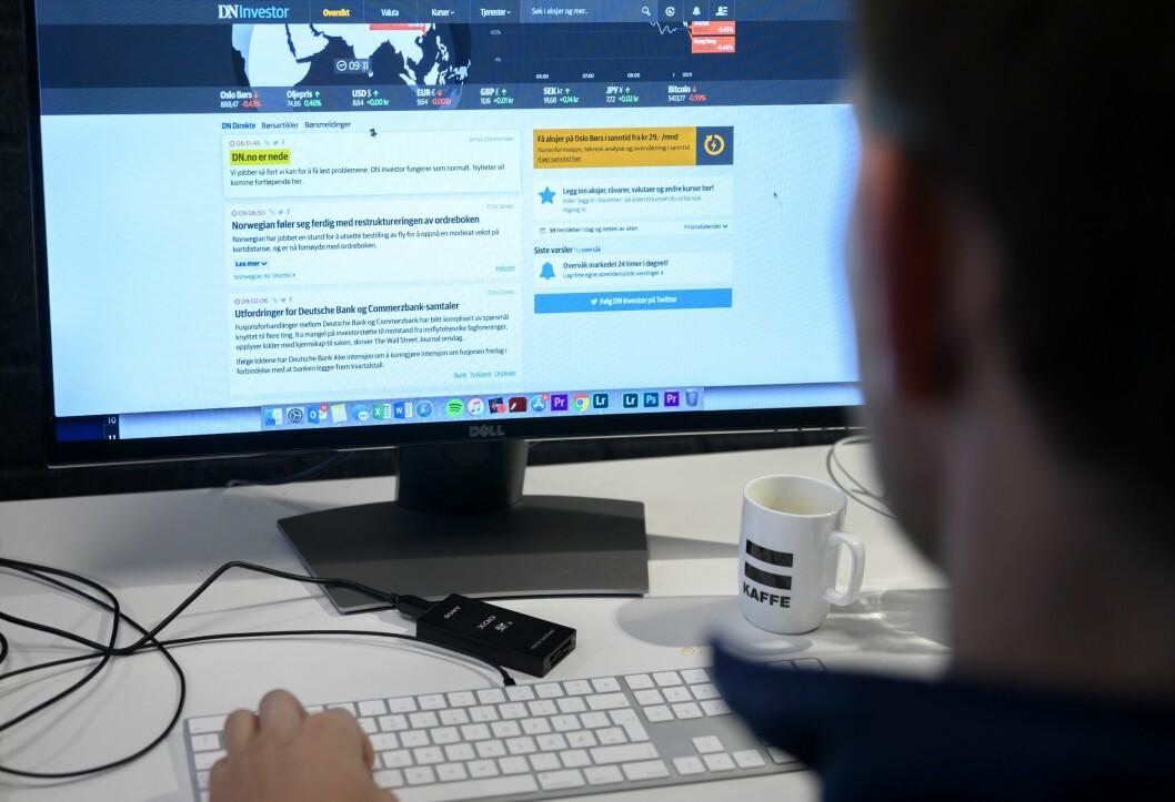 Flere norske nettaviser har problemer etter at den tekniske leverandøren Redpill Linpro hadde et strømbrudd torsdag.