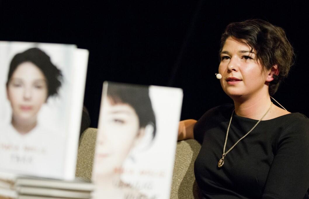 I 2014 lanserte Maria boka Takk på Kulturhuset i Oslo.Foto: Vegard Wivestad Grøtt / NTB scanpix