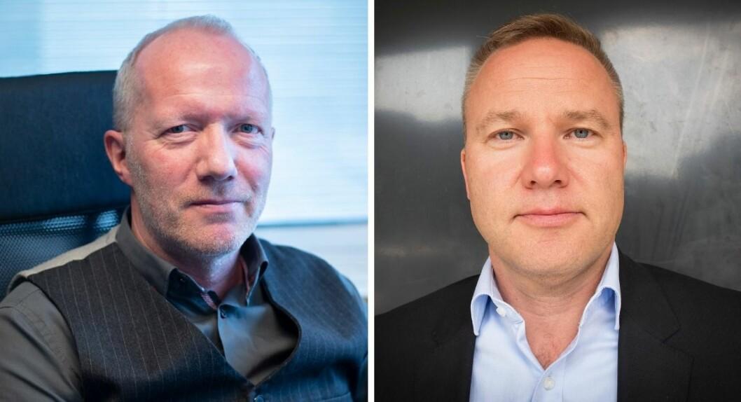 Arne Jensen i Norsk Redaktørforening og Helge Lurås, redaktør i Resett.