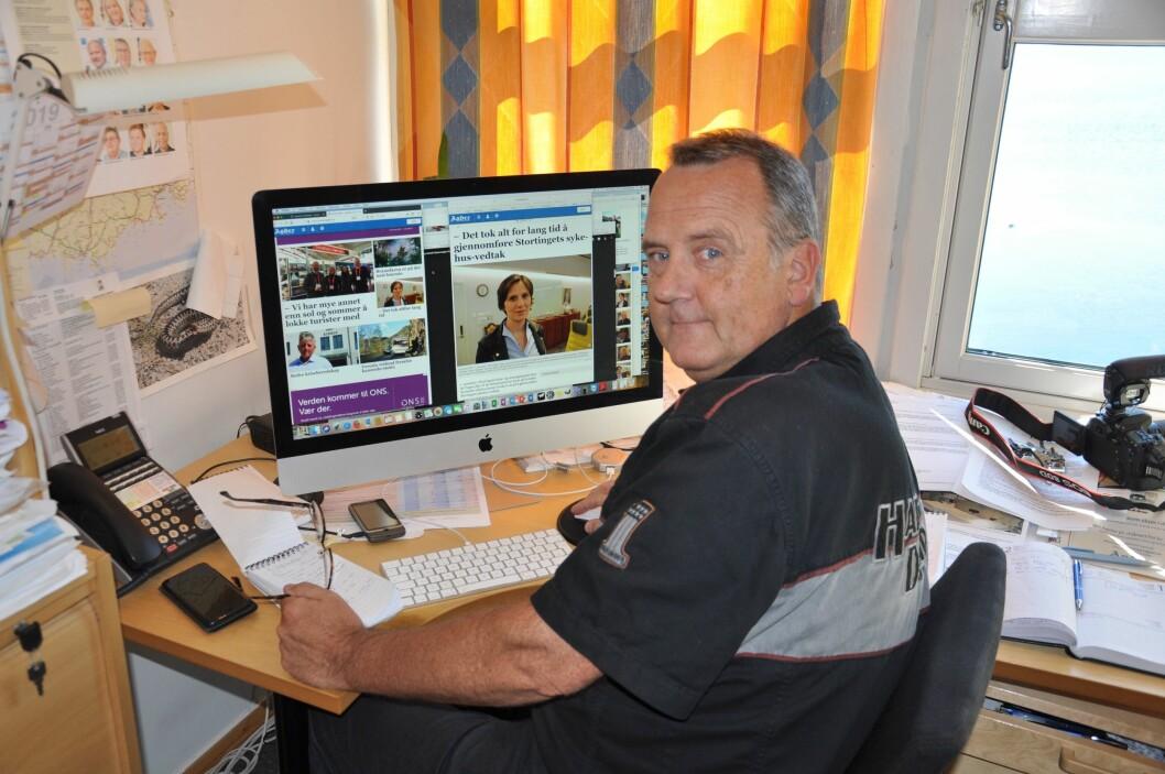 Journalist Svein Løvland i avisen Agder Flekkefjord Tidende.