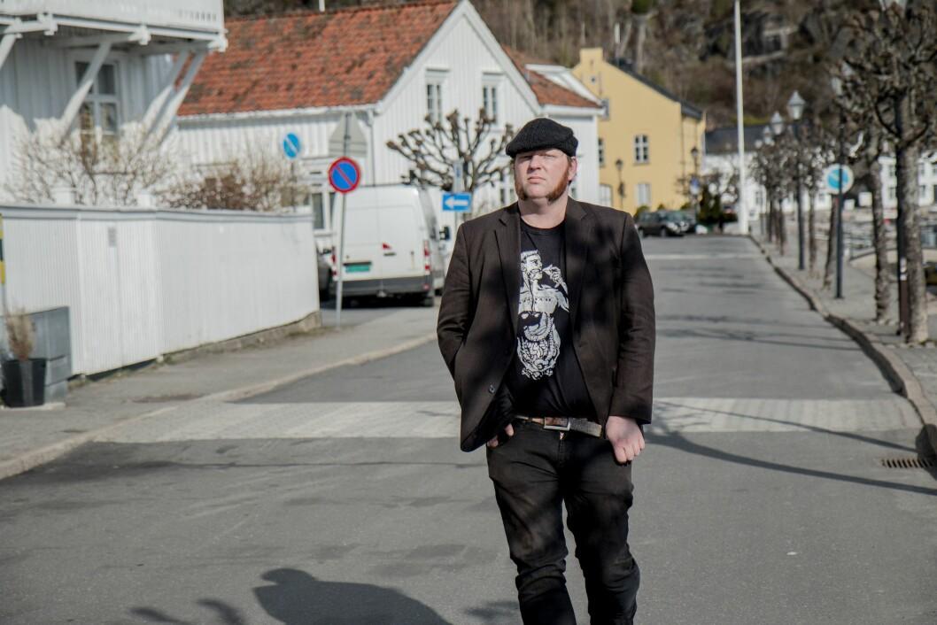 Redaktør Lars Taraldsen i Aust-Agder Blad.