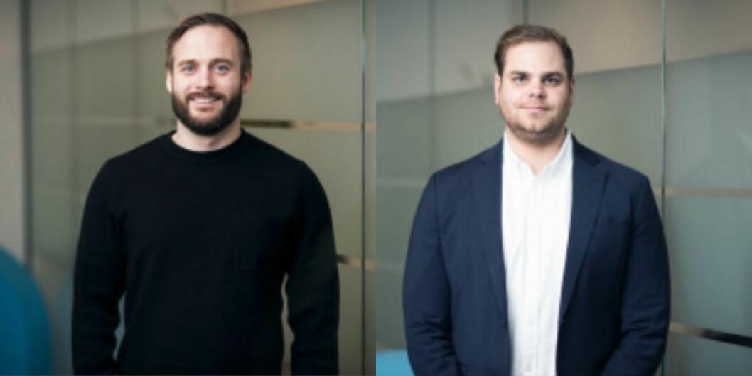 Trygve Tellefsen og Peder Seiersted i NENT Groups salgsavdeling