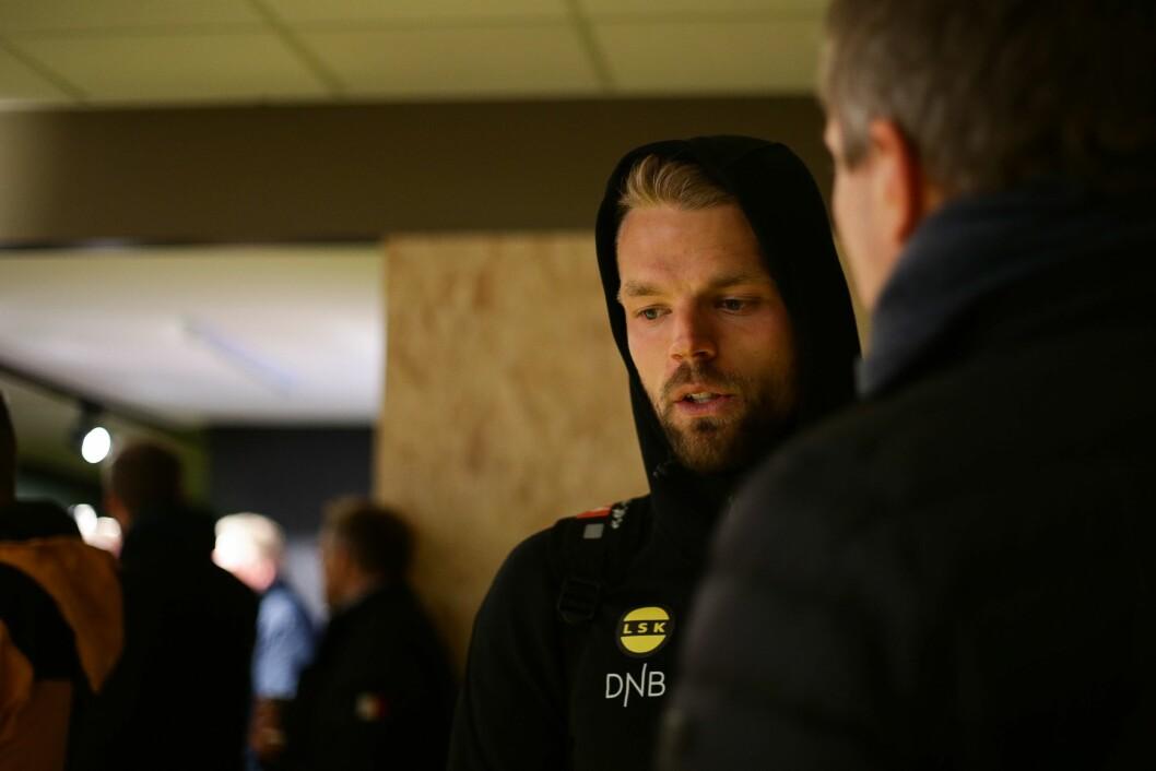 Lillestrøms Mats Haakenstad etter eliteseriekampen mellom Bodø/Glimt og Lillestrøm på Aspmyra stadion. Kampen endte 4-0.