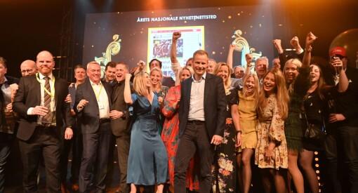 VG er årets nasjonale nyhetsnettsted. Bergens Tidende er årets lokale