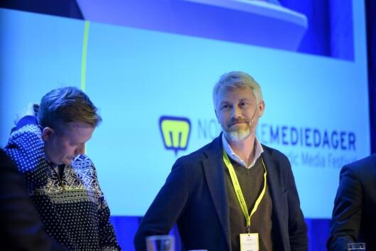 NENT-sjef Vegard Drogseth og TV 2-sjef Olav T. Sandnes.