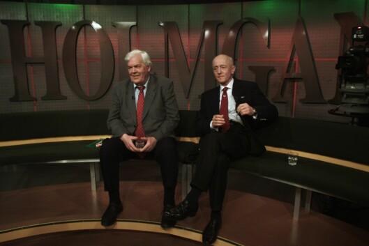 Det byrjar å bli ei stund sidan debattsendingane samla nordmenn framføre TV 2 på hovudkanalen. Her er frå då Thorbjørn Berntsen (t.v.) møtte til debatt i tv-programmet «Holmgang» på TV 2 i 2002.