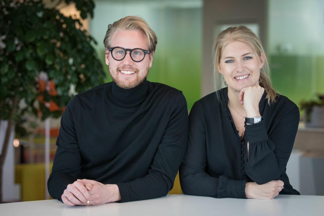 Innovasjonsmiljøet i Schibsted ledes av produktsjef Tobias Calminder og Next Media-sjef Frida Kvarnström.