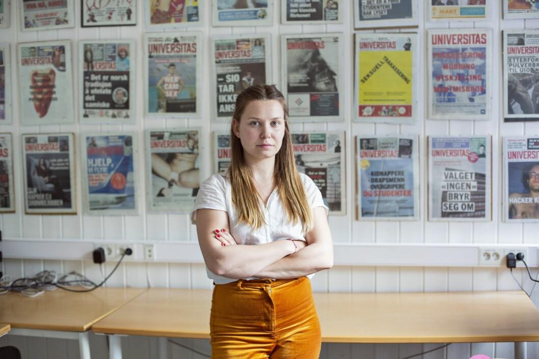 Selma Joner (28) er ansatt som ansvarlig redaktør i Universitas.