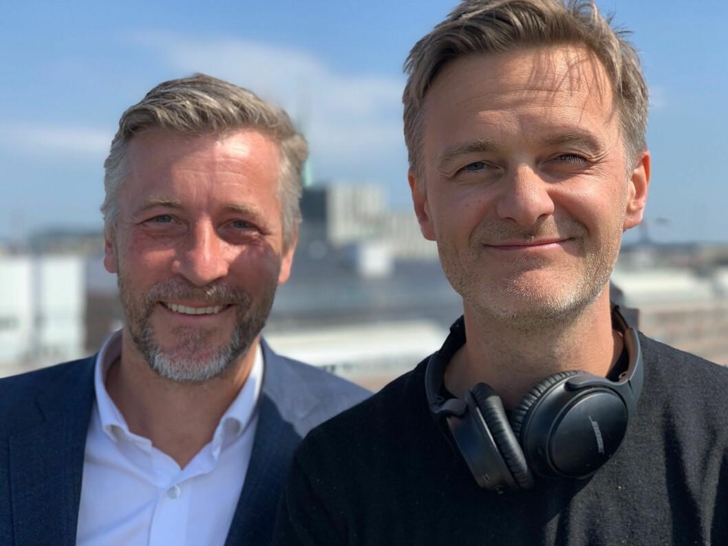 Johan Strömberg i PodMe og Pontus Ogebjer i Schibsted Growth.