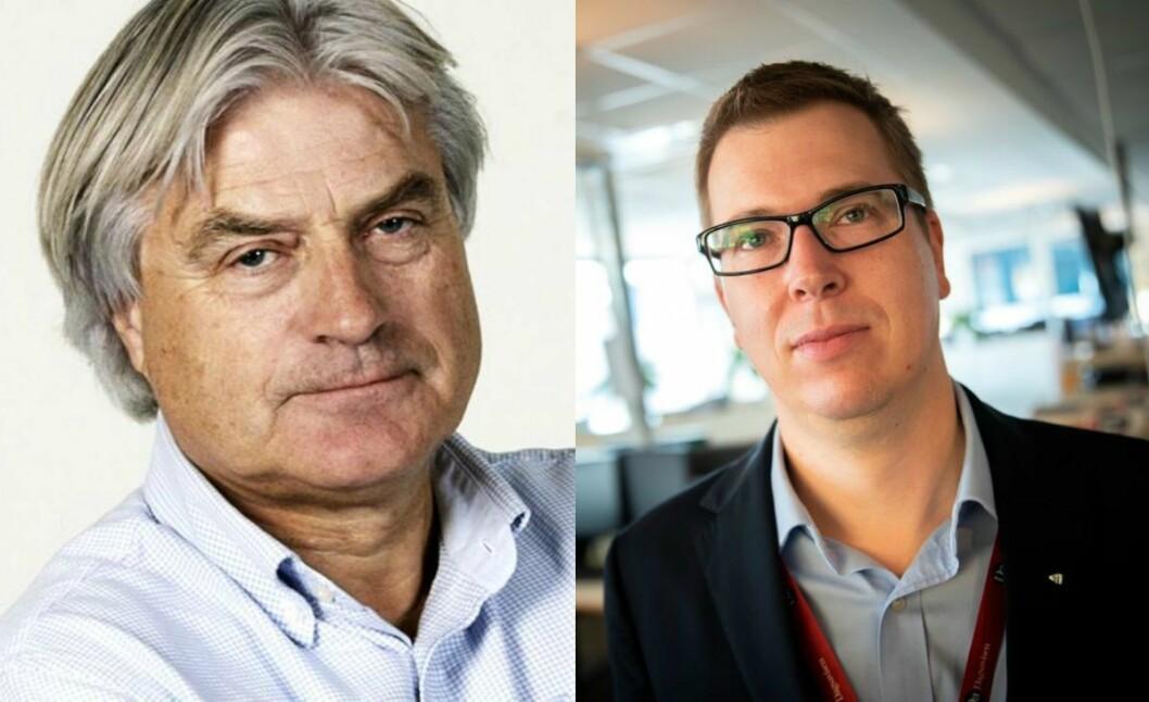 Gunnar Bodahl-Johansen (til venstre) mener Demokraten-redaktør Eirik Hoff Lysholm driver med sensur.