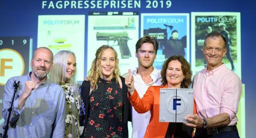 Politiforum er årets fagblad i 2019! Redaktørpris til Ole Petter Pedersen. Sjekk alle vinnerne her