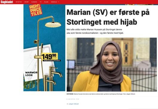 Dette er saken som Dagbladet delte på sin Facebook-side.