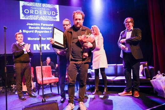 Joachim Førsund (på bildet), Bendik Mondal og Sigurd Øygarden Flæten fikk hederlig omtale for podkastserien «Familiene på Orderud».