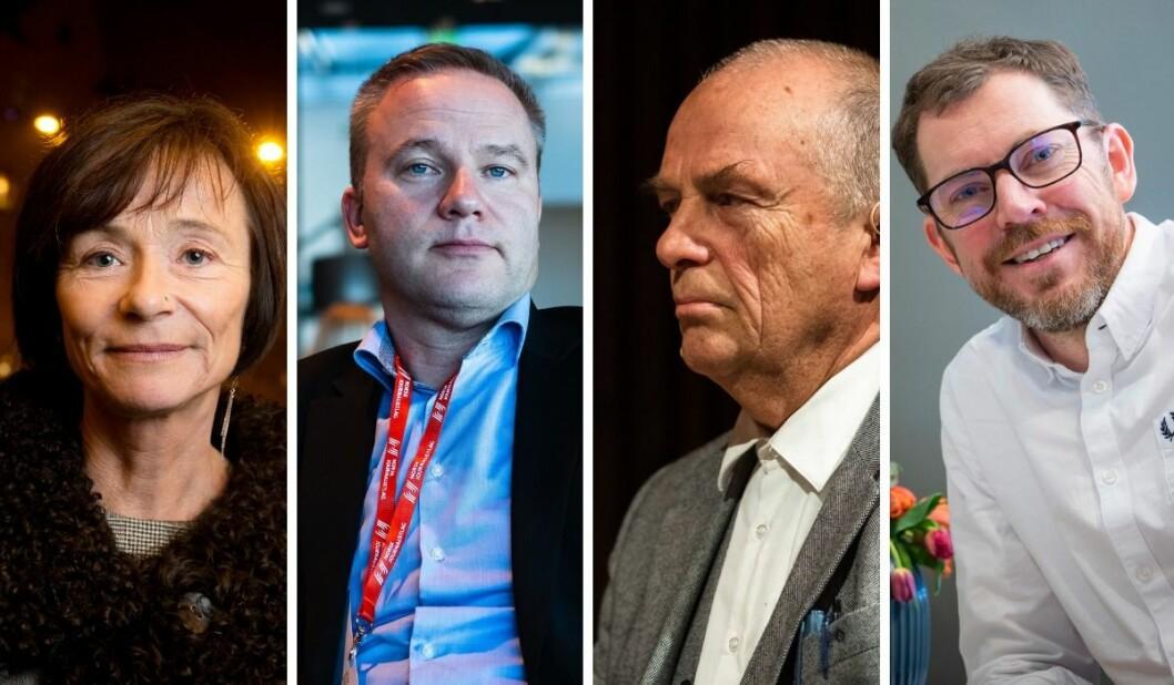Hege Storhaug i HRS, Helge Lurås i Resett, Hans Rustad i Document.no og Vårt Land-redaktør Bjørn Bore.