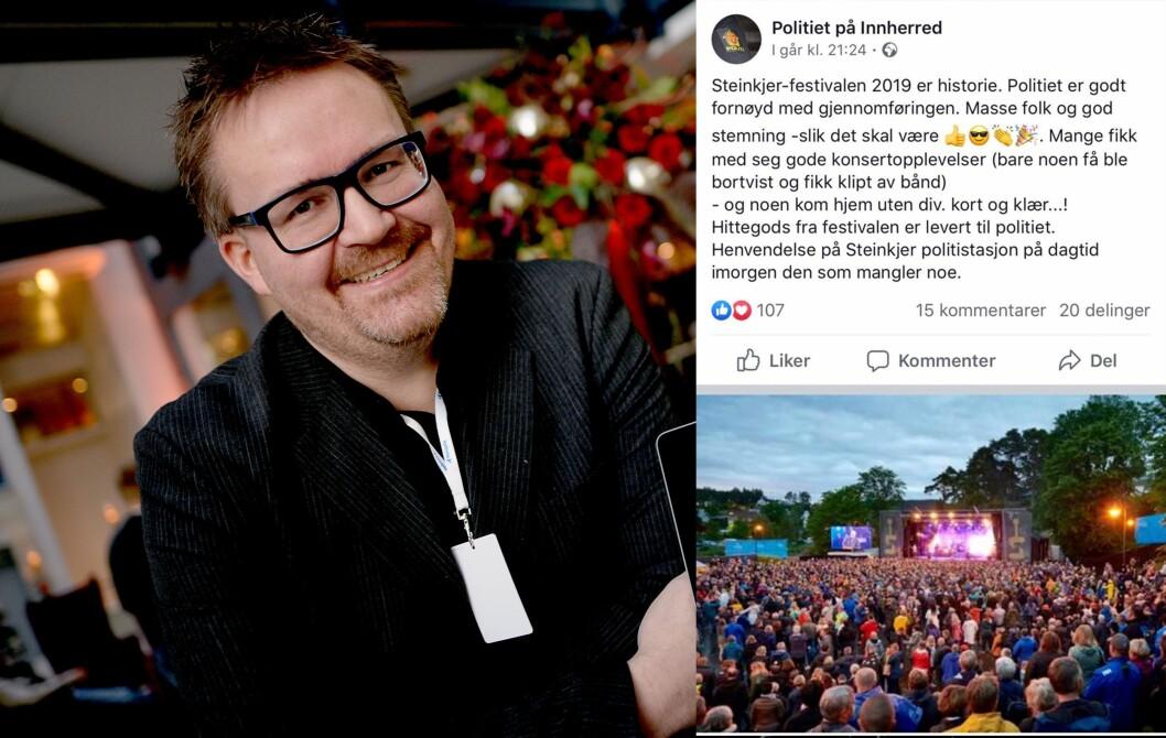 Johan Arnt Nesgård, fotosjef i Trønder-Avisa, ble utsatt for bildetyveri - av politiet på Facebook (innfelt).