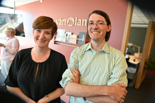 Veslemøy Østrem og Arne Borge ble presentert som nye redaktører i Vårt Land-redaksjonen fredag.
