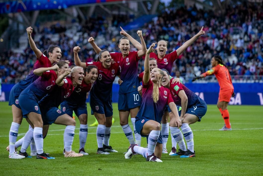 Norges Lisa-Marie Karlseng Utland feirer med en