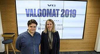 Kvar fjerde nordmann tok VG sin valgomat: – Veldig nøgd