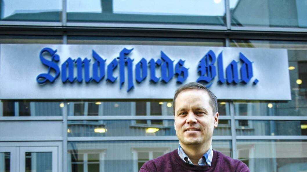 Ansvarlig redaktør i Sandefjords Blad, Steinar Ulrichsen.