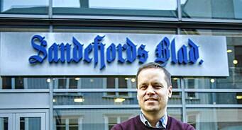 Resultatnedgang for Sandefjords Blad, men redaktøren ser lyst på fremtiden