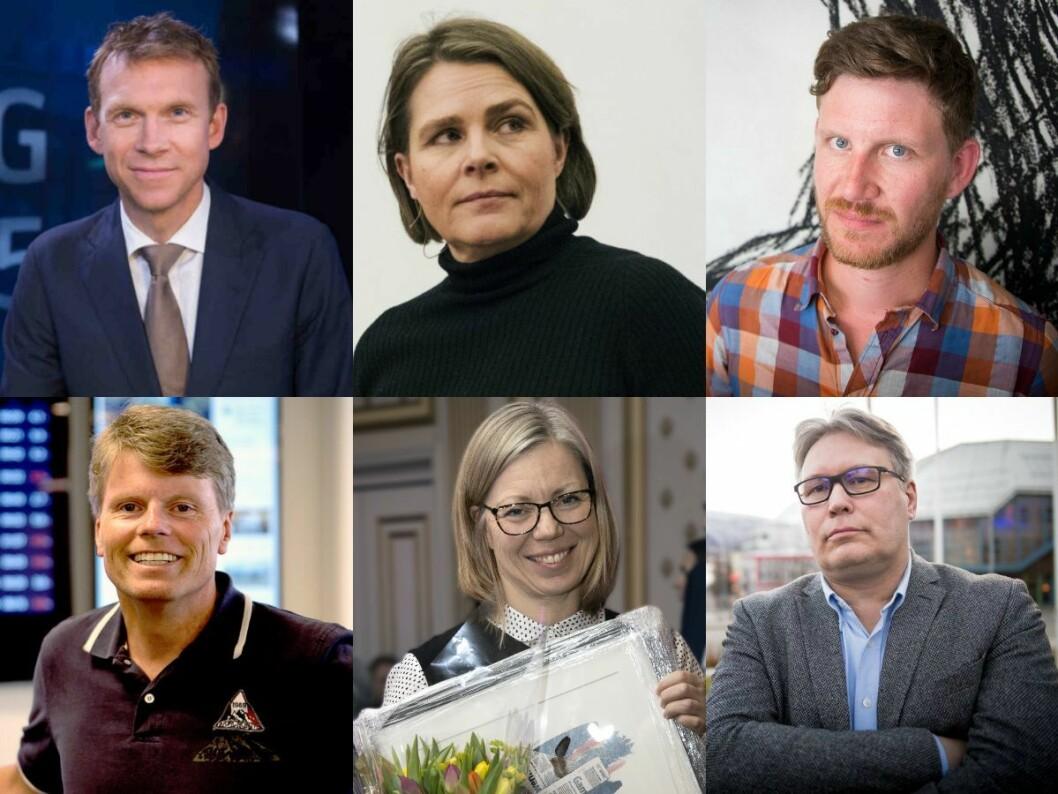 Kommentatorane Aslak Eriksrud (TV 2), Hege Ulstein (Dagsavisen), Jens Kihl (Bergens Tidende), Vidar Udjus (Fædrelandsvennen), Trine Eilertsen (Aftenposten) og Skjalg Fjellheim (Nordlys).