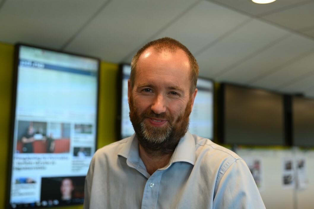Redaktør i Varden, Eirik Haugen. Foto: Anne Marthe Lilleby
