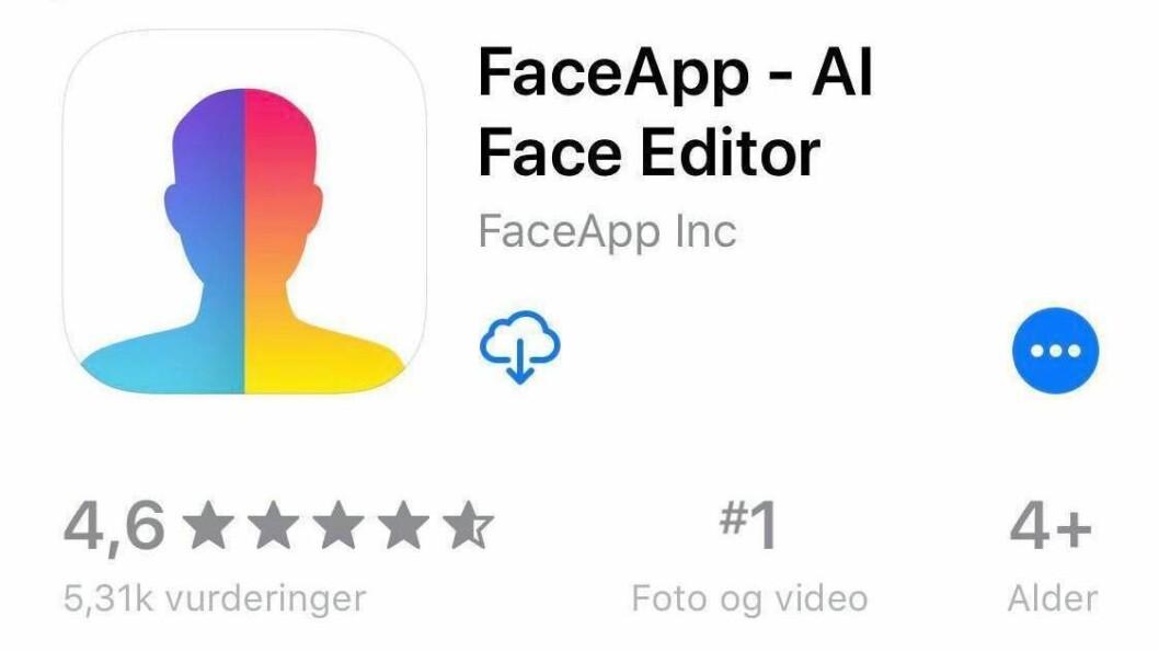 FaceApp har fått nye oppmerksomhet i mediene.