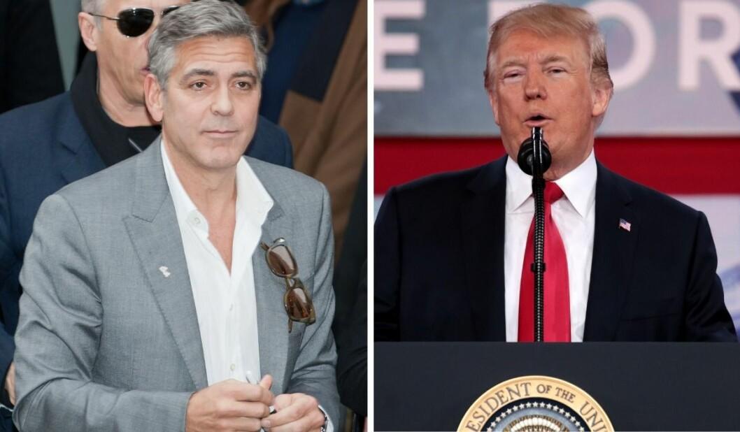 George Clooney og Donald Trump.